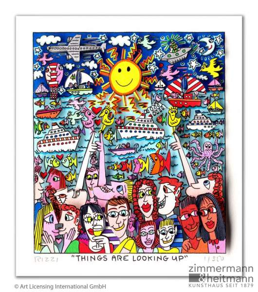 "James Rizzi ""Things are looking up"""