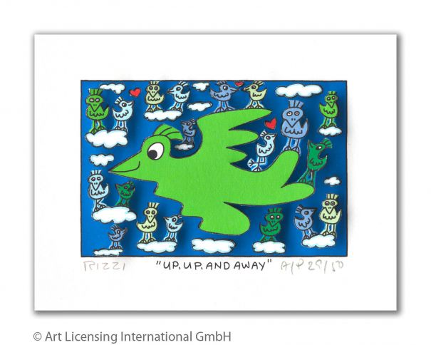 "James Rizzi ""Up, Up And Away"""