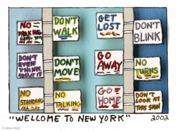 "James Rizzi ""Welcome To New York"""