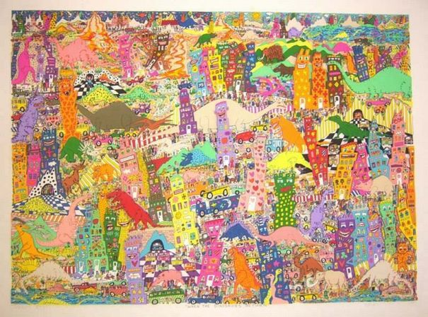 "James Rizzi ""When the dinosaurs return"""