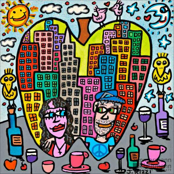 "James Rizzi ""You Are The Apple Of My Eye"""