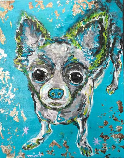 Lila Mint - Blue Dog
