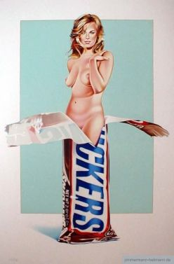 "Mel Ramos ""Candy 2 (Snickers)"""