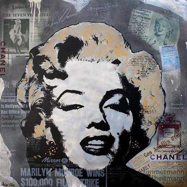 "Michel Friess ""Marilyn Newspaper Collage"""