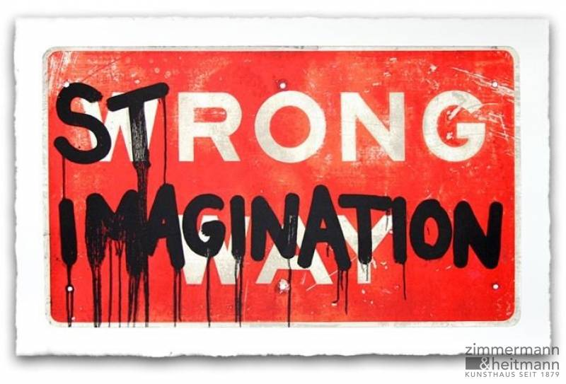 "Mr. Brainwash ""HIJACK STRONG IMAGINATION - gerahmt"""