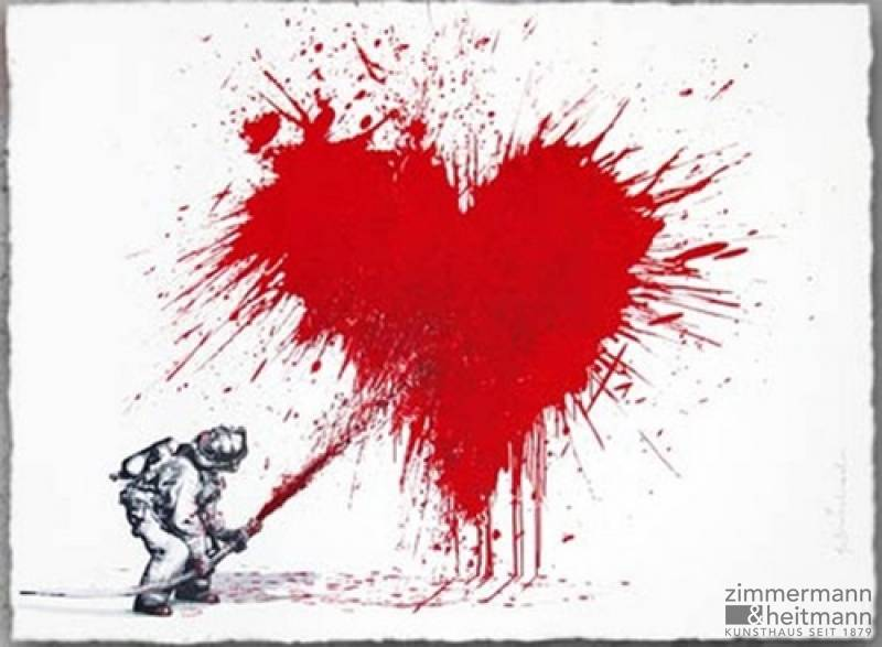 "Mr. Brainwash ""Love To The Rescue (Red)"""