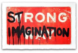 HIJACK STRONG IMAGINATION - gerahmt von Mr. Brainwash