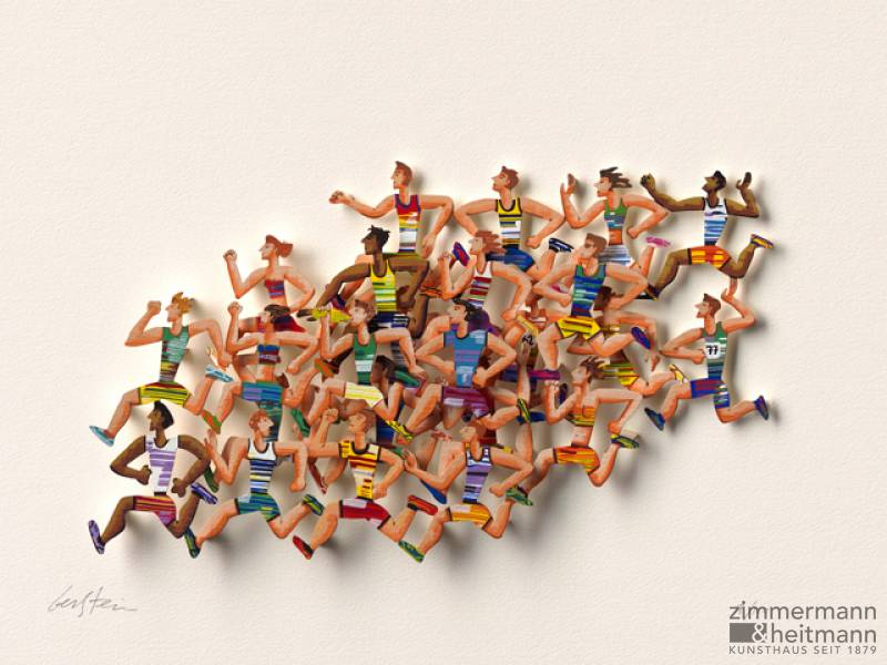 """Long Distance Runners (Papercut)"""