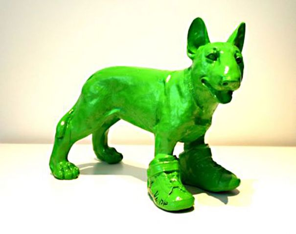 """Cloned Green English Terrier Dog"""