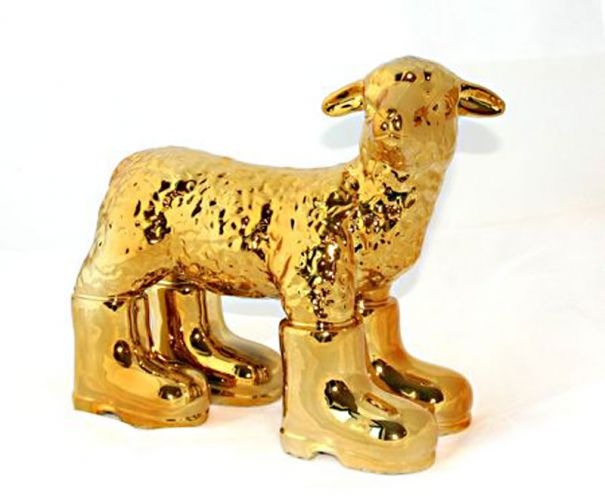 """Cloned Porcelain Lamb - Gold"""