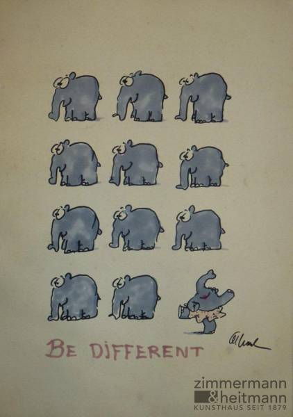 "Otto Waalkes ""Be different"""