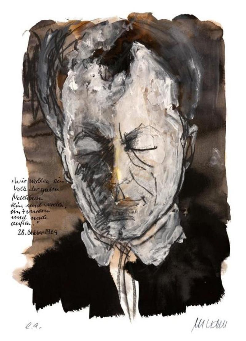 Porträt Willy Brandt von Armin Mueller-Stahl