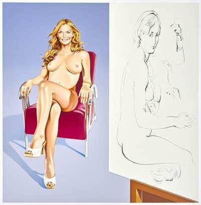 "Mel Ramos ""Drawing Lesson"""