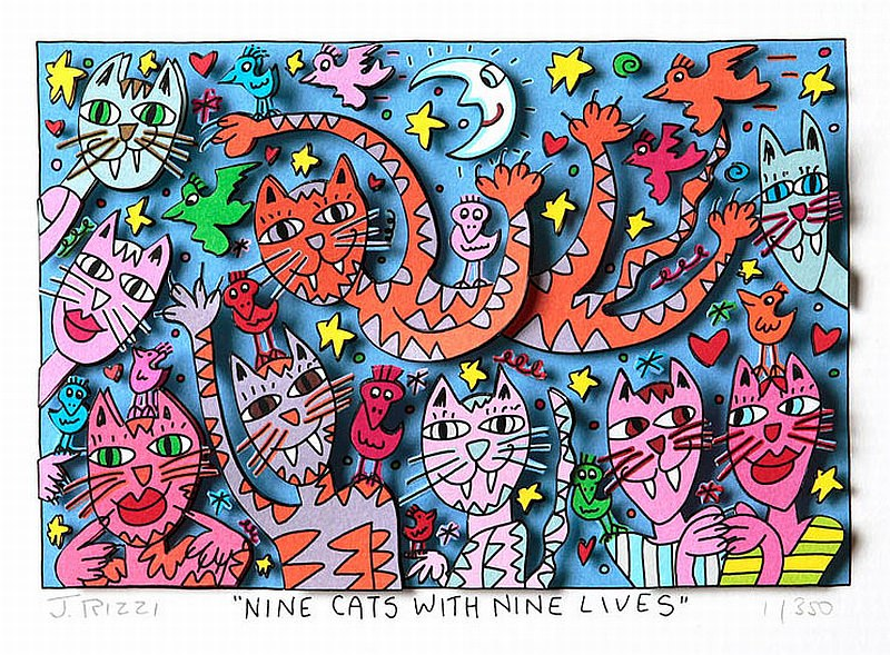 Nine cats with nine lifes