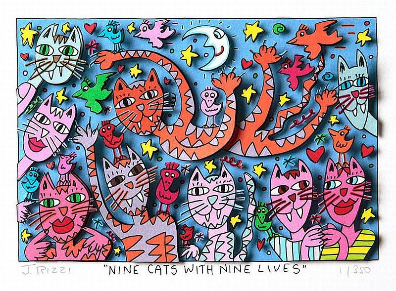 Nine cats with nine lifes