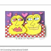 "James Rizzi ""A Pair Of Pears"""