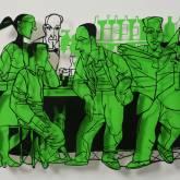 "David Gerstein ""Bar Series - Bar People (green)"""