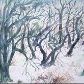 "Günter Grass ""Baumlandschaft im Winter"""