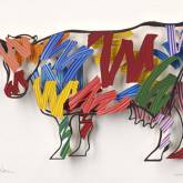 "David Gerstein "" Cow – Brushstrokes (Papercut)"""