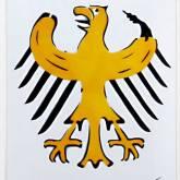 """Thomas Baumgärtel """"Bundesbananenadler (Metall)"""""""