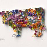 "David Gerstein ""Cow – Constructive (Papercut)"""
