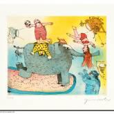 """Janosch """"Der Elefant steht hier im Licht, doch seinen Kummer sieht man nicht"""""""