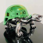 """Diederik van Appel """"Peace Turtle Green Silver"""""""