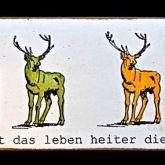 """Kati Elm """"Ernst ist das Leben ... (Hirsche)"""""""