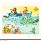 """Janosch """"Es schwankt das Meer, die Sonne sinkt, wobei Herr Wondrak nichts mehr trinkt"""""""