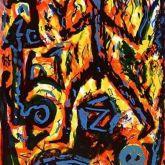 """A. R. Penck """"Flammen"""""""