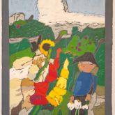 """Klaus Fußmann """"Garten mit Gladiolen"""""""