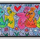 """James Rizzi """"A Bunch of beautiful Birds"""""""