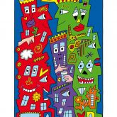 """James Rizzi """"Houses who happen to be happy"""""""