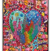 """James Rizzi """"It`s heart not to love my City (Leinwand)"""""""
