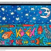"""James Rizzi """"The stars, the moon and the fish in the sea (Leinwand)"""""""