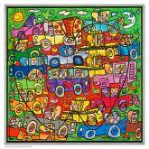 "James Rizzi ""Traffic in the Big Apple (Leinwand)"""