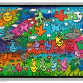 """James Rizzi """"Up, down and flying around (Leinwand)"""""""