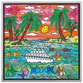 """James Rizzi """"A Sunset Cruise"""""""