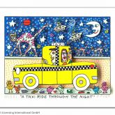 "James Rizzi ""A Taxi Ride Through The Night"""