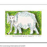 "James Rizzi ""An Elephant never forgets"""