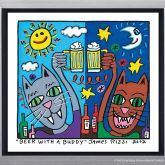 "James Rizzi ""Beer with a Buddy"""