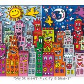 """James Rizzi """"Day or night - My city is bright"""""""