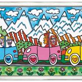 "James Rizzi ""Driving through the Alps"""