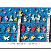 "James Rizzi ""Love Birds in the Night"""