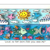"James Rizzi ""Love in the sea for you and me"""