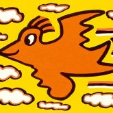 "James Rizzi ""Rizzi Bird (Orange on Yellow)"""