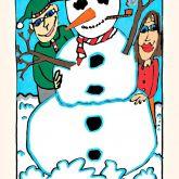 """James Rizzi """"Snowman"""""""