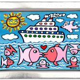 """James Rizzi """"The kissing Cruise"""""""