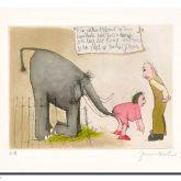 """Jörg Immendorff """"Ein alter Elefant im Zoo ..."""""""