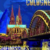 """Fritz Art """"Köln Kölner Dom Blau"""""""